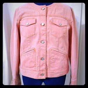 Gap XL peach/coral denim jacket